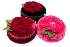 These lovely velvet jewelry cases by NZ designer Tamsin Cooper are available from Gorgeous Creatures. Perfect for mum on Mothers Day. Knitting Accessories, Fashion Accessories, Baby Booties, Baby Shoes, Cossack Hat, Cheap Gifts, Floral Scarf, Jewelry Case, Womens Fashion Online