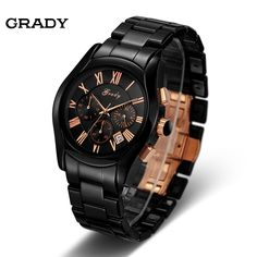 (72.11$)  Watch here - http://aivdv.worlditems.win/all/product.php?id=32754585973 - Grady factory wholesale fashion mens sports watch ceramic chronograph wristwatches