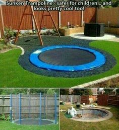 A Sunken Trampoline - Safe for Children.