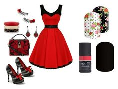 """""""Jamberry Nails - Rockabilly"""" by kspantonjamon on Polyvore featuring Dolce&Gabbana and Kenneth Jay Lane"""