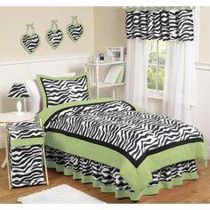 lime green zebra teenage girls bedroom ideas - Google Search