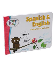 This Spanish & English Board Book is perfect! #zulilyfinds