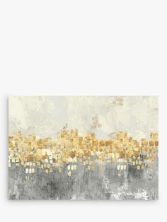 Buy Dancing With The Stars - Abstract Embellished Canvas Print, 70 x Grey/Gold from our Pictures range at John Lewis & Partners. Free Delivery on orders over Wall Art Uk, Grey Wall Art, Abstract Wall Art, Abstract Landscape, Landscape Paintings, Leaf Paintings, Abstract Print, Canvas Artwork, Canvas Prints