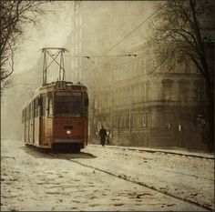 I was a Fulbright Scholar in Hungary in 1993.  I was so caught up in taking pictures of cathedrals and dregs of communism that I sometimes forgot to capture the ordinary things like streetcars.