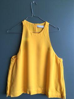 Retail Price, Tank Tops, Yellow, Women, Fashion, Moda, Halter Tops, Fashion Styles, Fashion Illustrations