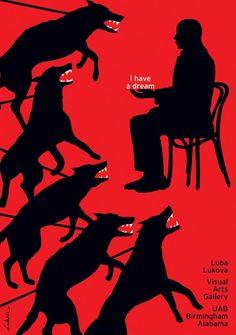 Italian Poster Biennal Luba Lukova / Usa I have a Dream