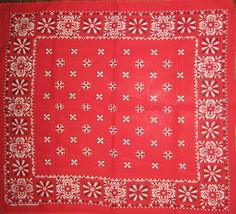 Vintage red bandana Tower All Cotton fast color 60s era by sweetalicelovesyou on Etsy