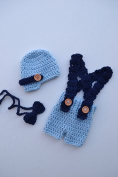 0b495f808f1 Baby Boy Outfit Crochet Baby Outfit Newborn Boy Photo Outfit Baby  Photography Prop Baby Gift Baby Boy Crochet Newborn Baby Suspender Pants
