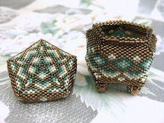 Jewelry Box  Beadwoven Tiny  Art  Home Decor  Handmade  Peyote on Etsy, $78.79 CAD