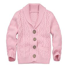 Zebra Fish Girls Button Up Sweater Long Sleeve Casual Girls Knit Cardigan
