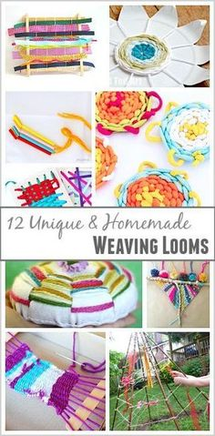 15 Unique Homemade Looms for Weaving with Kids 2019 12 Unique and Homemade Weaving Looms. The post 15 Unique Homemade Looms for Weaving with Kids 2019 appeared first on Weaving ideas. Weaving Loom For Kids, Straw Weaving, Loom Weaving, Projects For Kids, Craft Projects, Crafts For Kids, Arts And Crafts, Craft Ideas, Weaving Projects