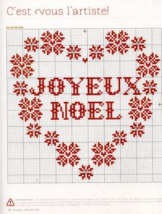 Christmas cross stitch charts joyeux noel