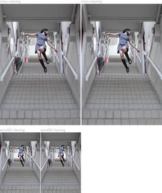 yowayowa  Cross-viewing: Cross your eyes until you see three, then focus on the third image. 3D!