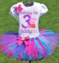 Peppa Pig Birthday Party Ideas | Peppa Pig Birthday Outfit | Peppa Pig Birthday Shirt | Peppa Pig Family Shirts | Birthday Party Ideas for Girls | Twistin Twirlin Tutus #birthdaypartyideas #peppapigbirthday  http://www.twistintwirlintutus.com/collections/tutuoutfits/products/peppa-pig-birthday-outfit-1#content