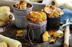 This easy recipe transforms your earthy and sweet parsnips into a crunchy snack with the warming flavour of paprika Eat Lunch, Lunch To Go, Lunch Meals, Dairy Free Recipes, Vegan Recipes, Skinny Recipes, Potato Crisps, Tesco Real Food