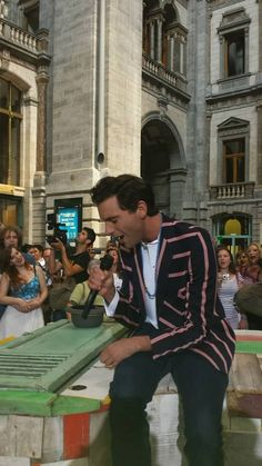 mika in belgium for an advert