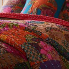 Peacock Decor, Twin Quilt, Queen Quilt, Kantha Quilt, Quilt Sets, Eclectic Decor, Cotton Quilts, Pillow Shams, Diy Home Decor
