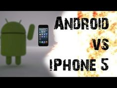 ▶ Android vs iPhone 5 Techwars - EPIC BATTLE - YouTube
