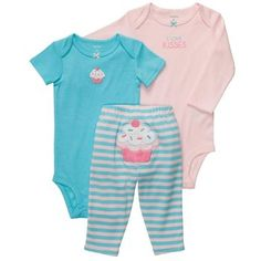 Baby Clothes: Cupcake Three-Piece Baby Girl Outfit from Carter's