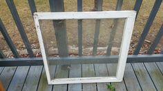 Vintage Wood Window, Frame, Single Pane, Old Reclaimed  Window, Farmhouse Window, Window, Frame, Picture Frame, Wedding Decor, Sign 34