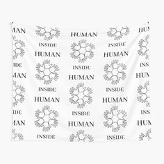 'Human Inside' Tapestry by RIVEofficial Inside Man, Human Human, My Portfolio, Cotton Tote Bags, Equality, Evolution, Identity, Custom Design, Finding Yourself