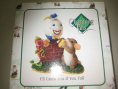 """""""I'll Catch You If You Fall"""" Charming Tails 89330 Humpty Dumpty and Mouse 