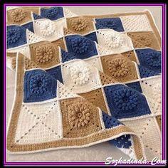 Crochet Bedspread Patterns Part 8 - Beautiful Crochet Patterns and Knitting Patterns Crochet Bedspread Pattern, Crochet Square Patterns, Crochet Squares, Crochet Afghans, Crochet Blanket Patterns, Baby Blanket Crochet, Baby Knitting Patterns, Crochet Baby, Knitted Baby Blankets