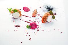 Marco Martini | foto Andrea Di Lorenzo | Gambero, rapa rossa, gorgonzola e vermouth