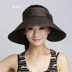 43c6864b625 Summer straw hat for women with flower sun visor hats package design