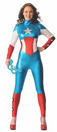 Rubies  s Oficial Ladies Marvel Miss sueño Americano Capitán Amercia Traje  Adulto Disfraz de – e6c86d634b84