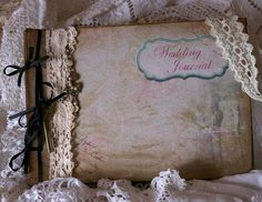 Wedding Journal Planner  handmade in the by youruniquescrapbook, £29.95
