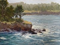 Across the Cove by Kathleen Dunphy Oil ~ 12 x 16