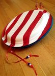 4th of July craft project, noisemaker from paper plates.