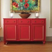 Dishware, serving pieces, table linens—a sideboard packs a whole lot of storage space into a relatively small footprint, making it a handy addition to any household. A sturdy, high-quality one can leave a thousand-dollar dent in your finances, but as TOH general contractor Tom Silva demonstrates, you can enhance a few stock kitchen base cabinets with molding, furniture feet, and knobs to produce a handcrafted piece for a fraction of the cost of buying one ready-made. Opt for unfinis...