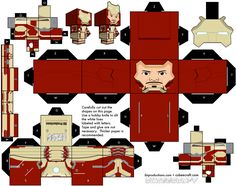 Iron Man (Mark XLII armor) Cubeecraft