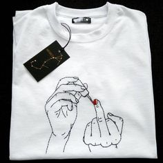 Good cow ~ / store / hand embroidery on clothes. - Pin mode all Good cow ~ / store / hand embroidery on clothes. - Pin mode all This video about: Hand Embroidery Amazing Trick Среда - это маленькая пятница 🍷 Согласны? Embroidery On Clothes, Embroidery Dress, Embroidery Art, Embroidery Store, Embroidery On Tshirt, Hand Embroidery Stitches, Hand Embroidery Designs, Hand Stitching, Knitting Stitches