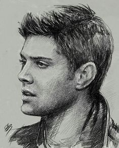 DeviantArt: More Collections Like Sam Winchester - Supernatural by griffouine Supernatural Drawings, Supernatural Fan Art, Drawing Sketches, Pencil Drawings, Art Drawings, Horse Drawings, Pencil Art, Celebrity Drawings, Pencil Portrait