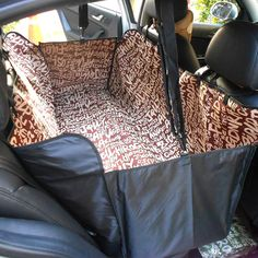 Amazon.com : Pet Seat Cover, Amzdeal Waterproof and Washable Oxford Fabric Pet Car Seat Cover Pet Travel Hammock Dog Car Seat Cover Hammock Style Car Seat Protector Pet Seat Cover (Pet Backseat Cover-Coffee Letter) : Pet Supplies