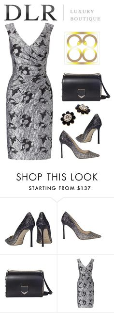 """dlrboutique"" by mountainalive ❤ liked on Polyvore featuring Jimmy Choo, Adrianna Papell and Kate Spade"