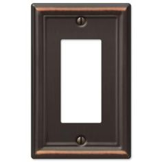 Hampton Bay, Chelsea 1 Decora Wall Plate - Aged Bronze, 149RDBHB at The Home Depot - Mobile