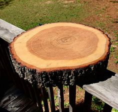 Cake Stand CHOOSE YOUR SIZE Wood slab cake stand Wood