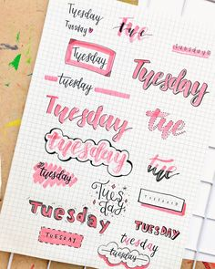 Looking for the best bullet journal fonts, headers and letterings for each day? Here are endless creative bujo ideas that you can use from Monday to Sunday! Bullet Journal School, Bullet Journal Inspo, Bullet Journal Headers, Bullet Journal Banner, Bullet Journal Aesthetic, Bullet Journal Notebook, Bullet Journal 2019, Bullet Journal Ideas Pages, Bullet Journal Writing Styles