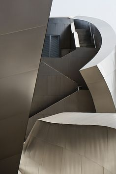 Location #2: Walt Disney Concert Hall (good because of its shape and designed by a famous architect)  Walt Disney Concert Hall  California  USA by liquidkingdom, via Flickr
