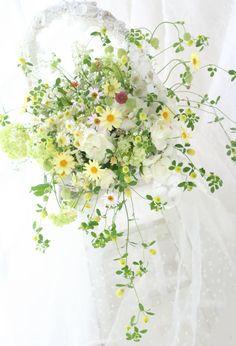 ブーケ バスケットブーケ レース : 一会 ウエディングの花