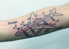 Tattoo red and black simple done at chico lous fine tattoos in a first class flight to the top 50 best airplane tattoos for men discover cool aviation inspired design ideas with vintage fighter jets to paper airplanes malvernweather Image collections