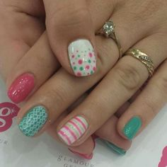 Party Time!! #partynails #notd #glamourgels