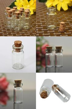 Awesome  Visit to Buy pcs Cute Mini Clear Cork Stopper Glass Bottles Vials Jars