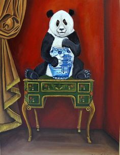 chinoiserie Style, painting by artist Catherine Nolin
