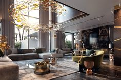 Stylish Luxury Living Room Design Ideas With Modern Home Accent Luxury Home Decor, Luxury Interior, Home Interior Design, Luxury Homes, Living Room Modern, Living Room Interior, Contemporary Living Room Designs, Living Area, Modern House Design