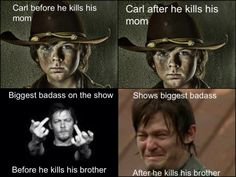 The Walking Dead★ STILL LOVE DARYL* REAL MEN CRY** CARL IS THE NEXT GOVERNOR!!!!!!! ★